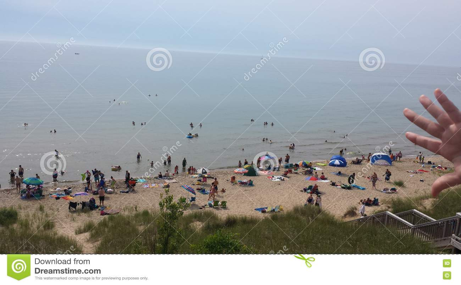 Praia do Lago Michigan