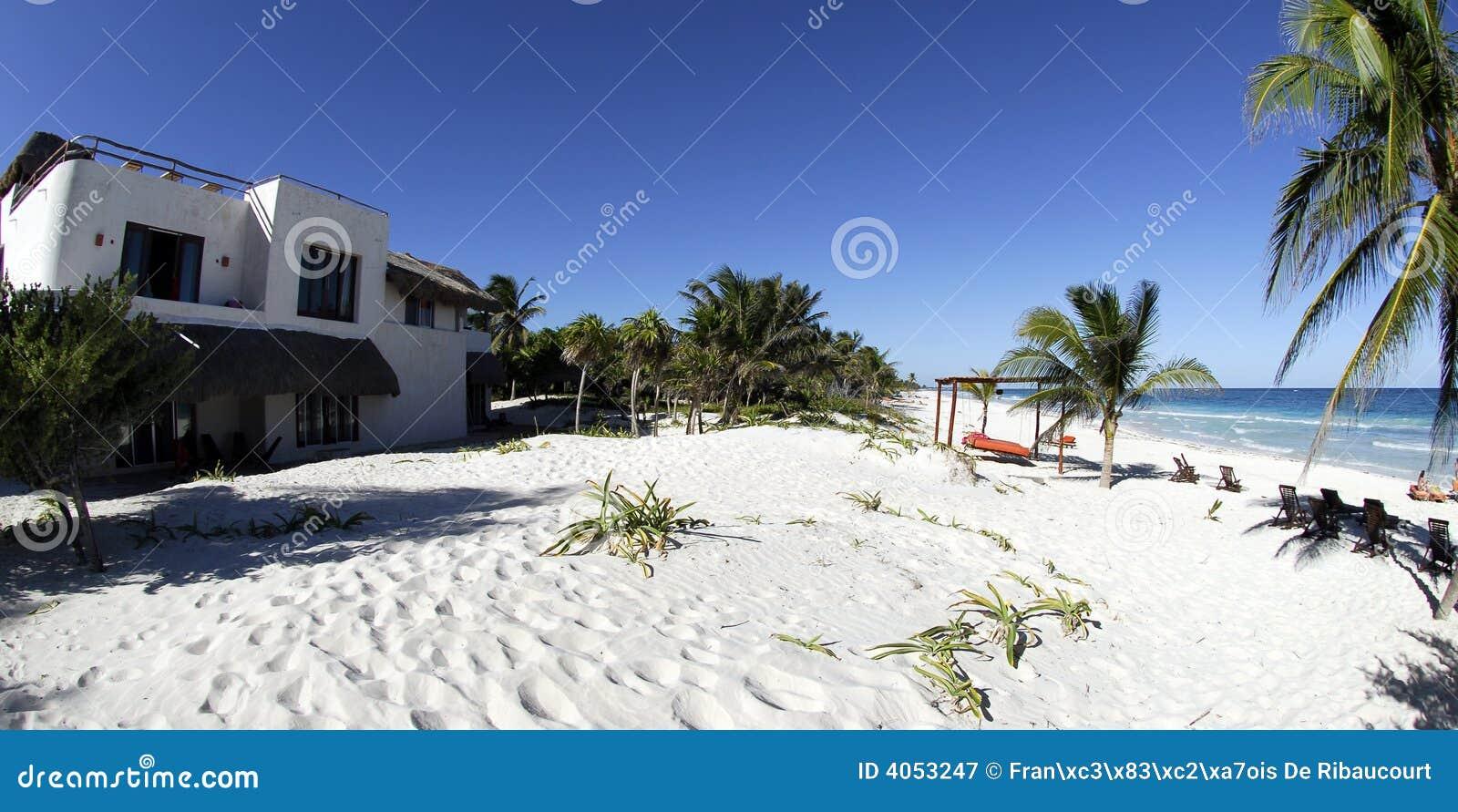 Praia do paraíso em Tulum