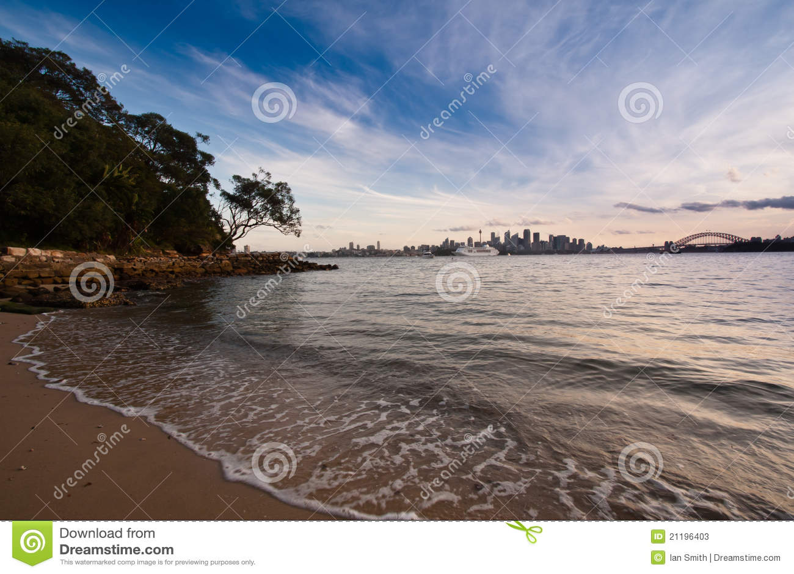 Praia do porto de Sydney