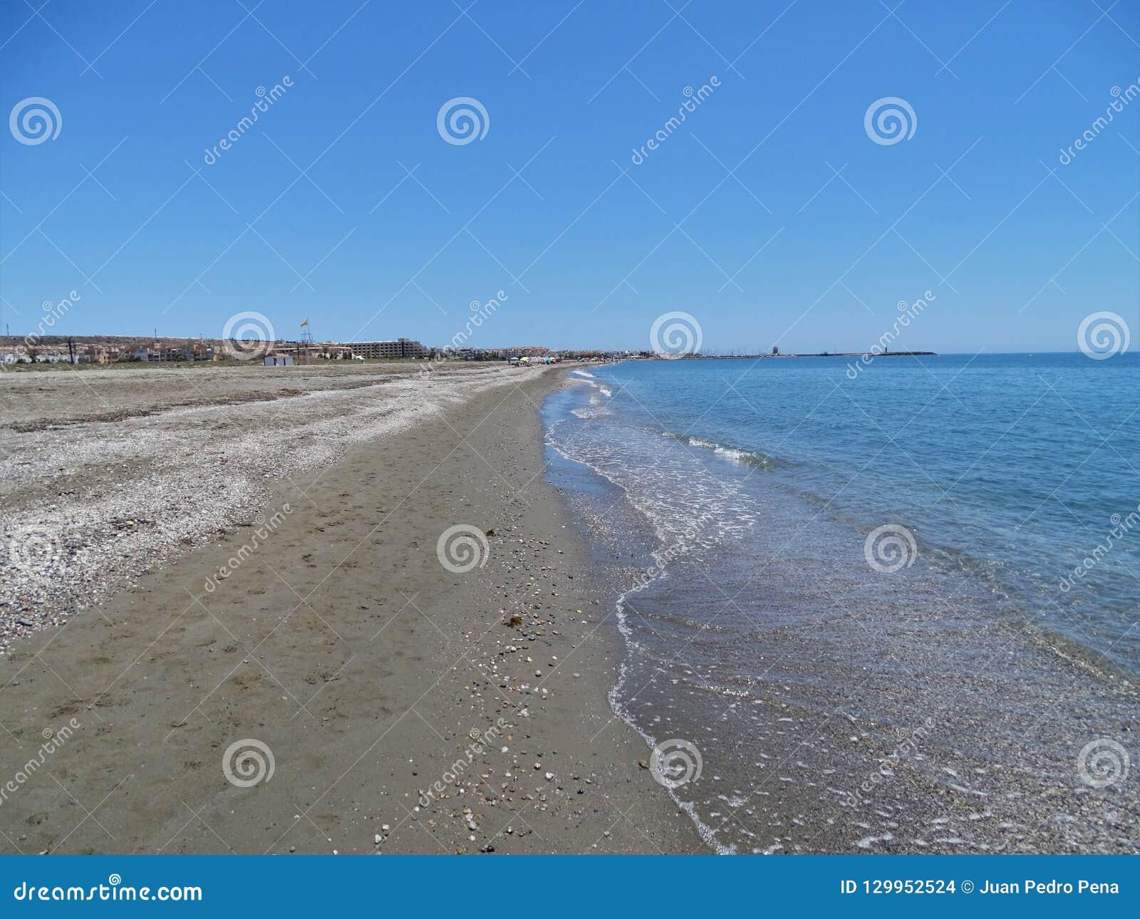 Praia do San Miguel Poniente do EL Ejido Almeria Andalusia Spain