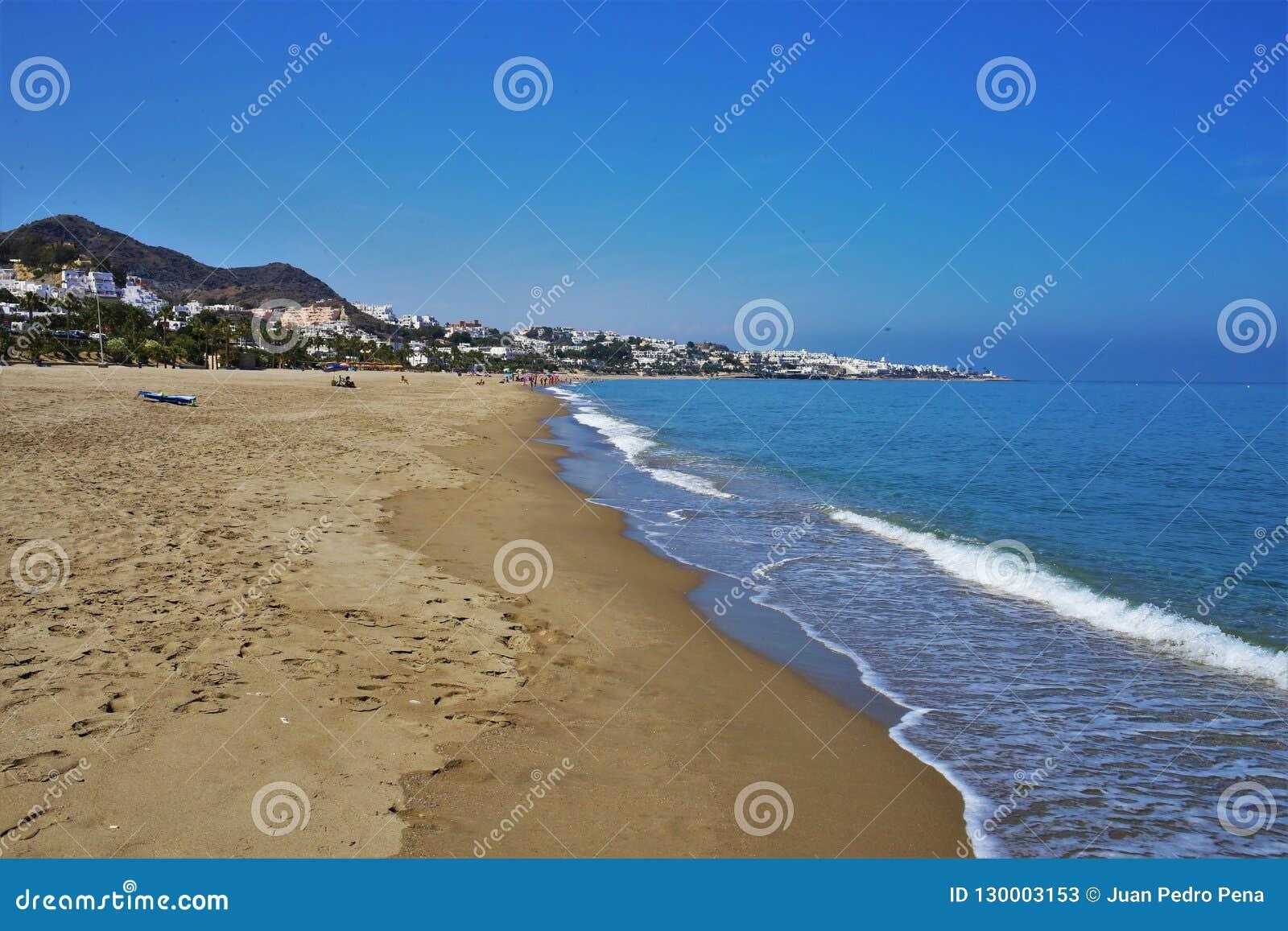 Praia do Vetanicas de Mojacar Almeria Andalusia Spain