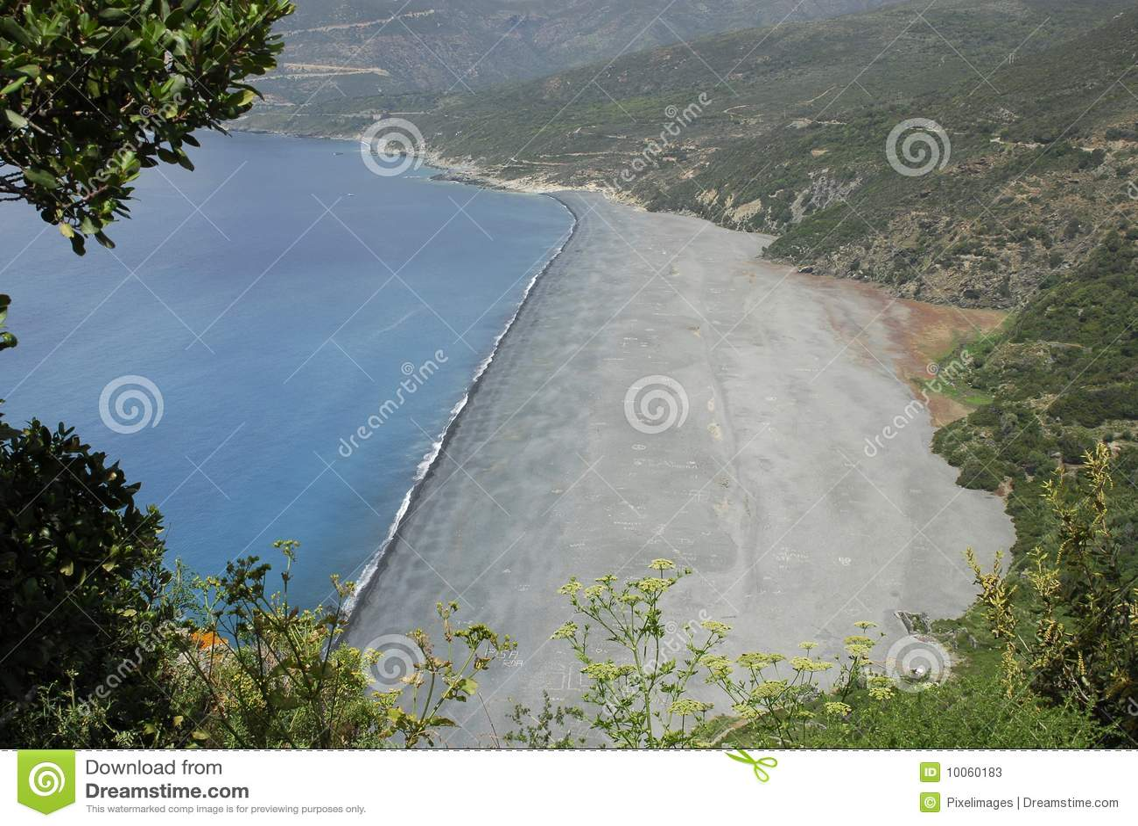 Praia em Córsega
