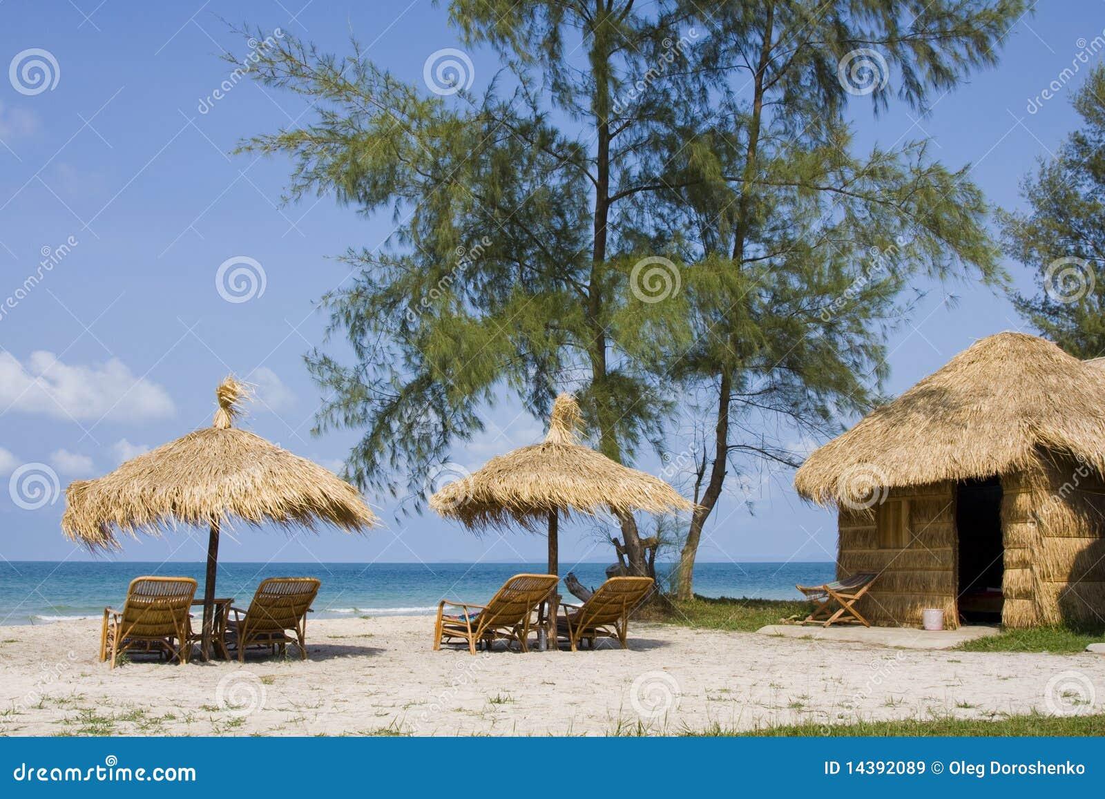Praia em Cambodia