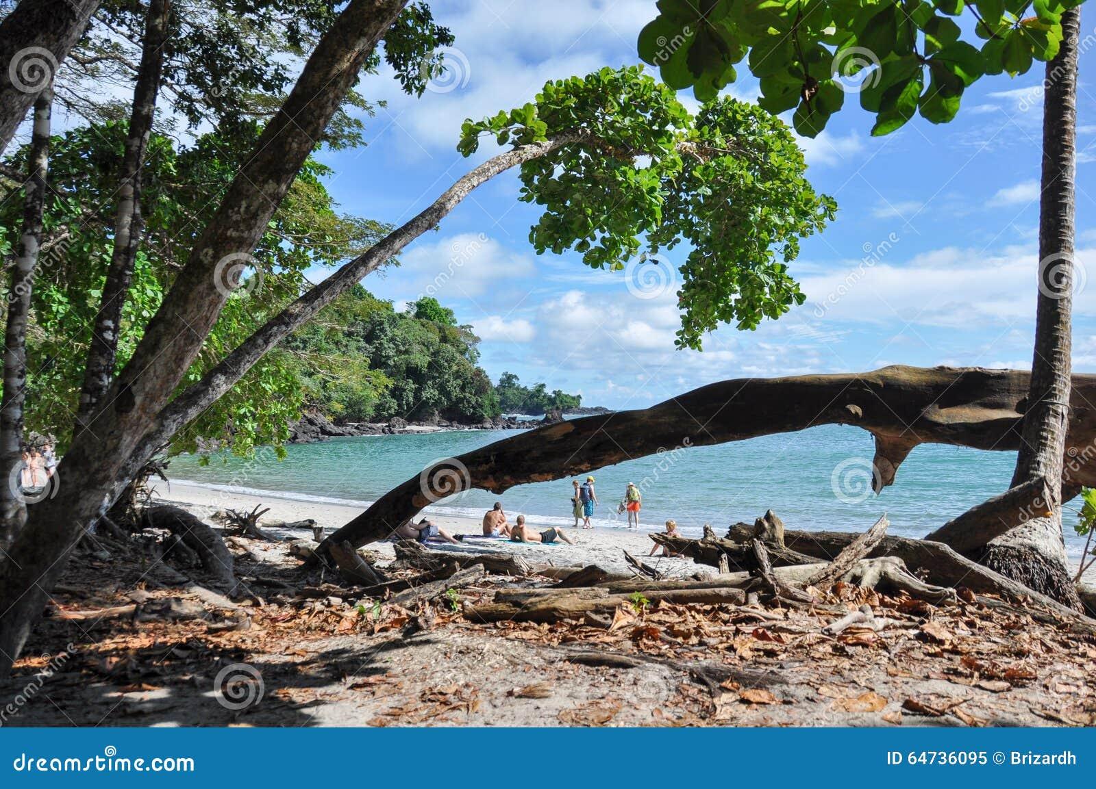 Praia em Manuel Antonio National Park, Costa Rica