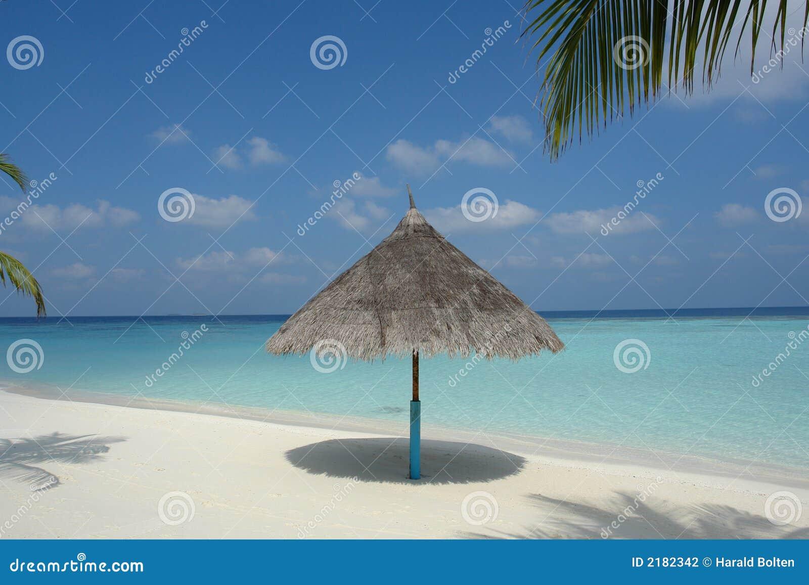 Praia em um console Maldive