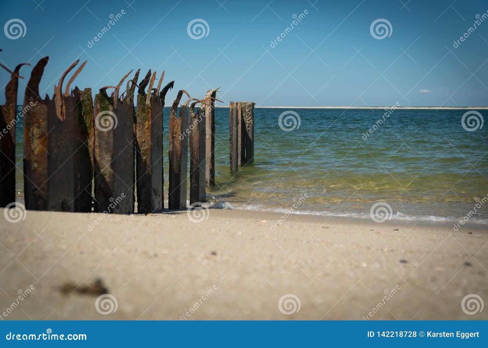 Praia em uma ilha do Mar do Norte
