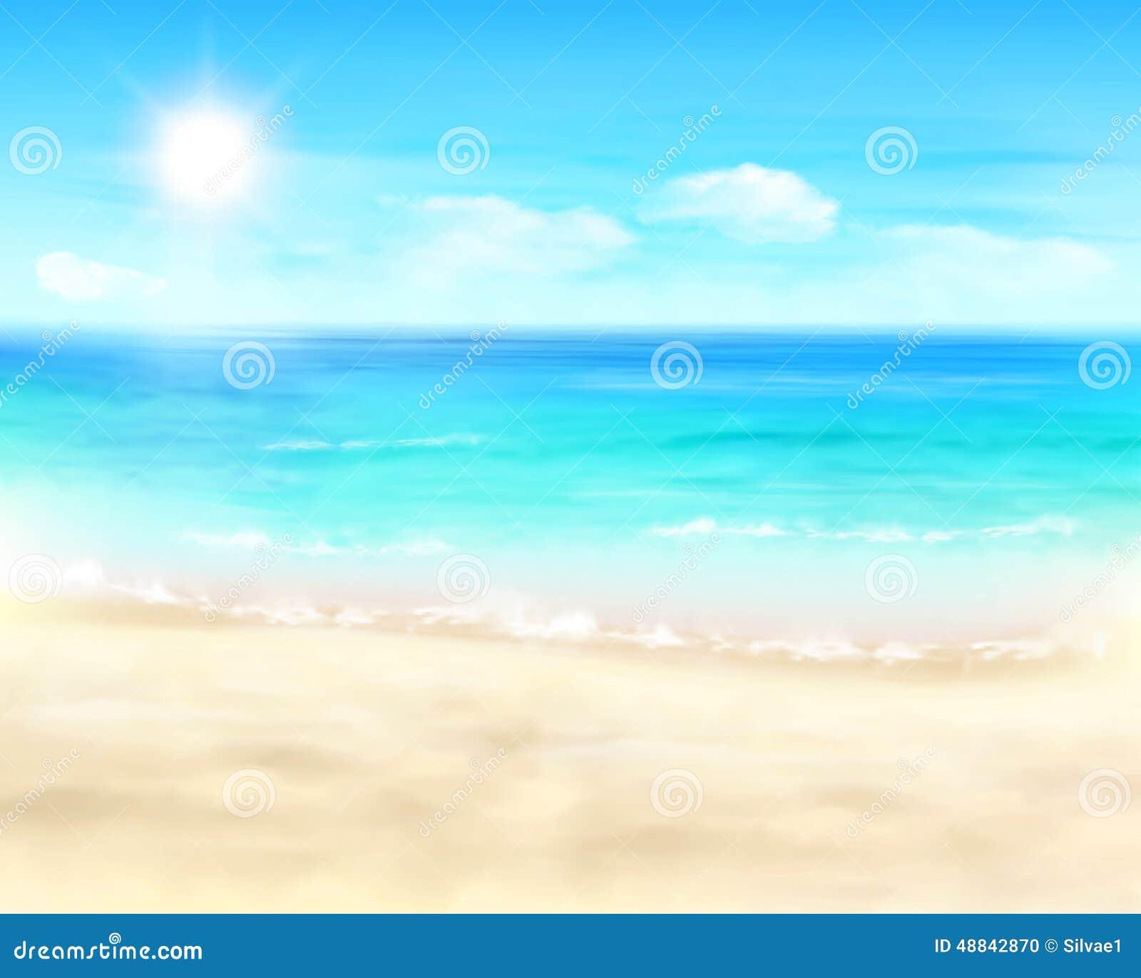 Praia ensolarada Ilustração do vetor