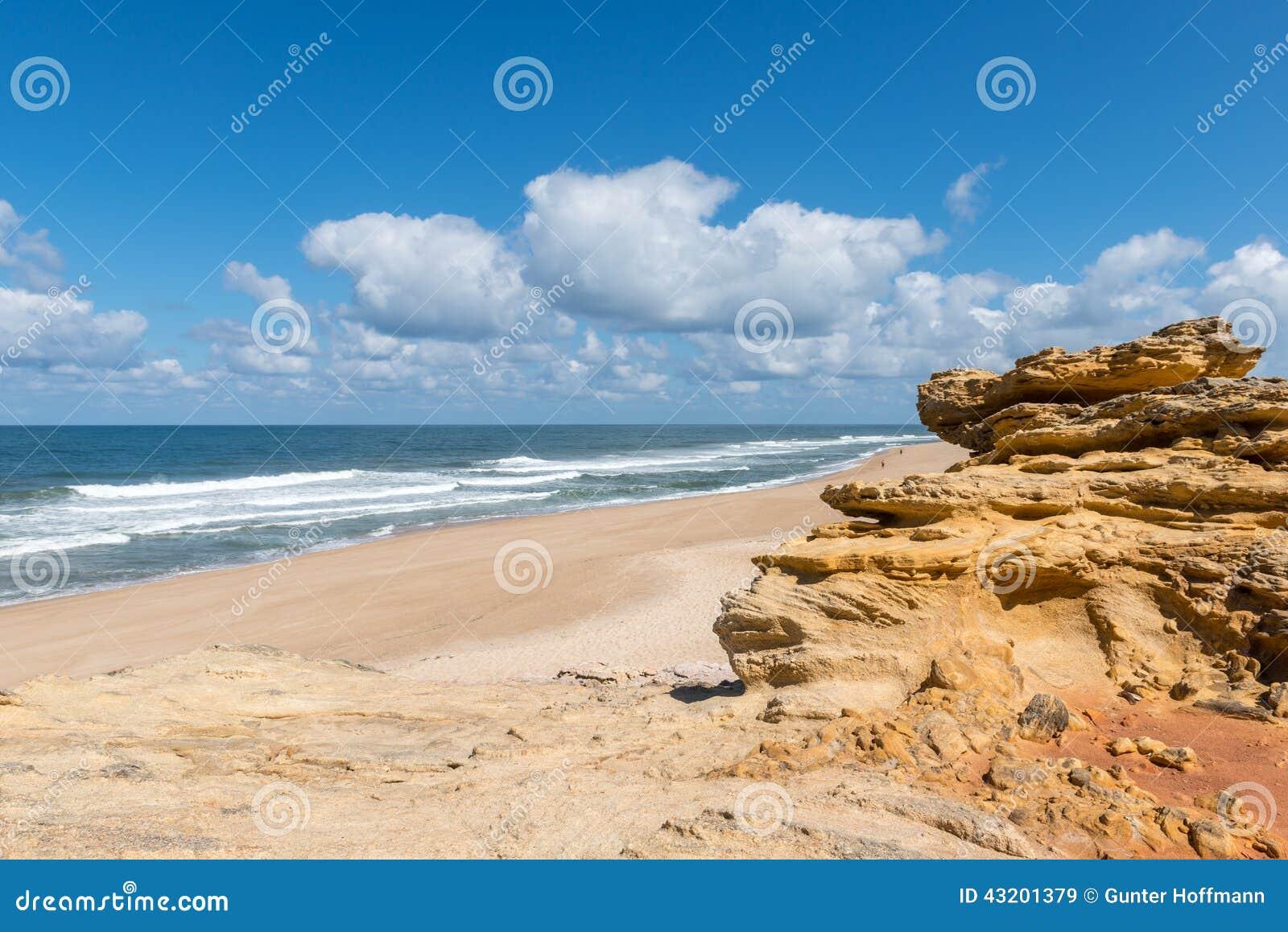 Download Praia Gör Norte, Nazare (Portugal) Fotografering för Bildbyråer - Bild av sand, fotografi: 43201379