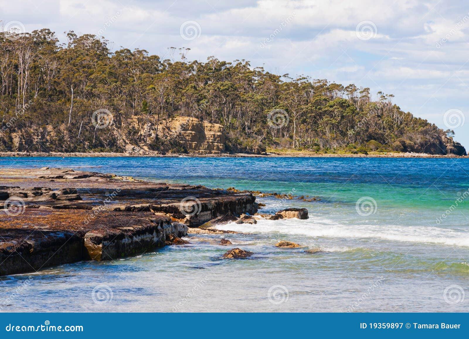 Praia, garganta de Eaglehawk