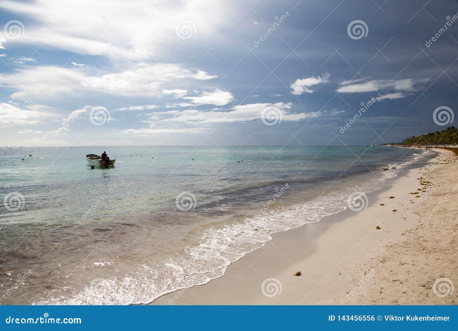 Praia ideal na República Dominicana