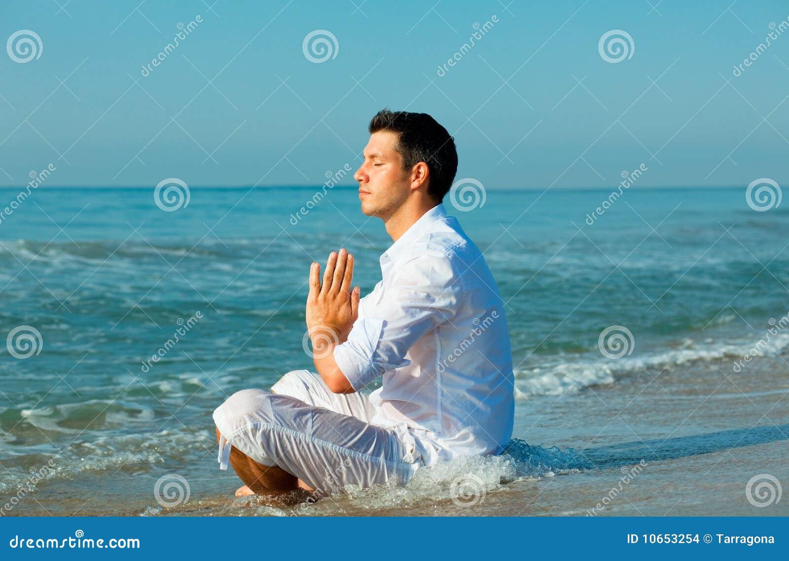Praia masculina da mediação