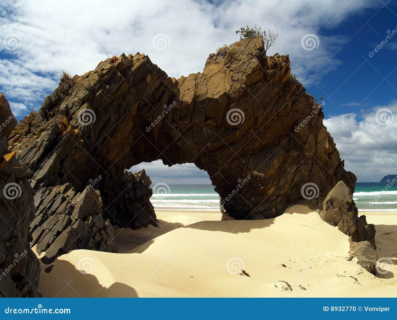 Praia no console bruny