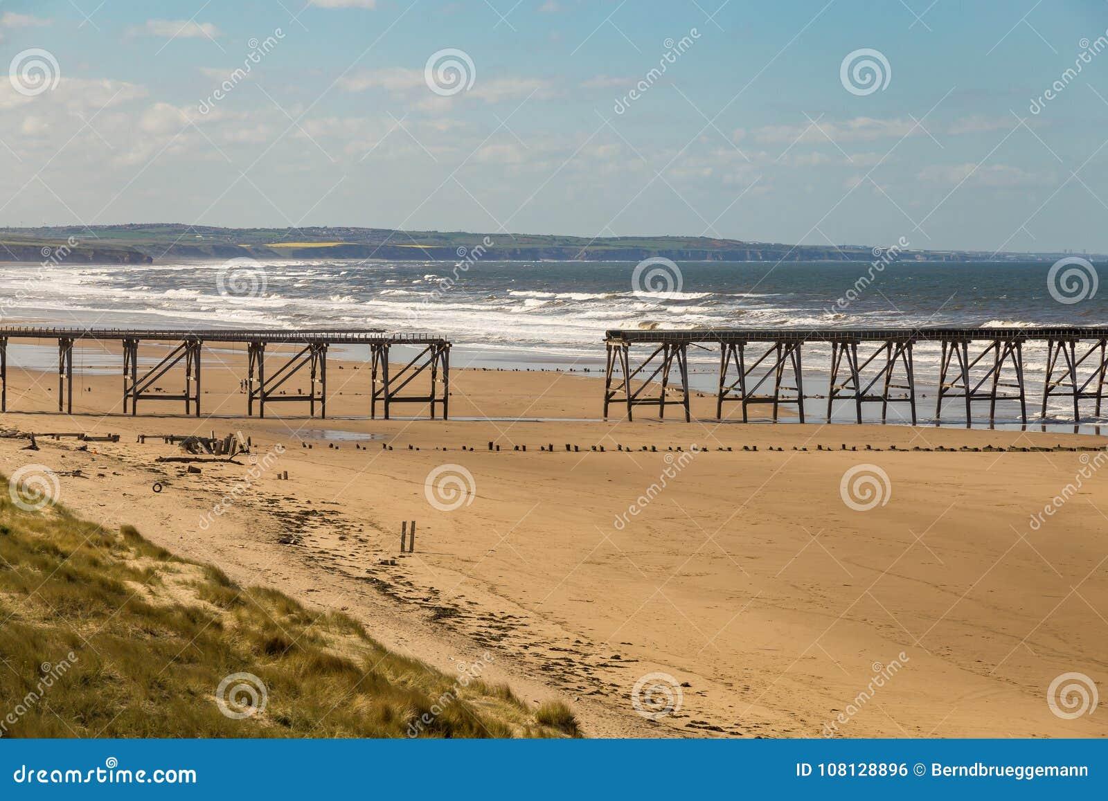 Praia norte das areias, Hartlepool, Reino Unido