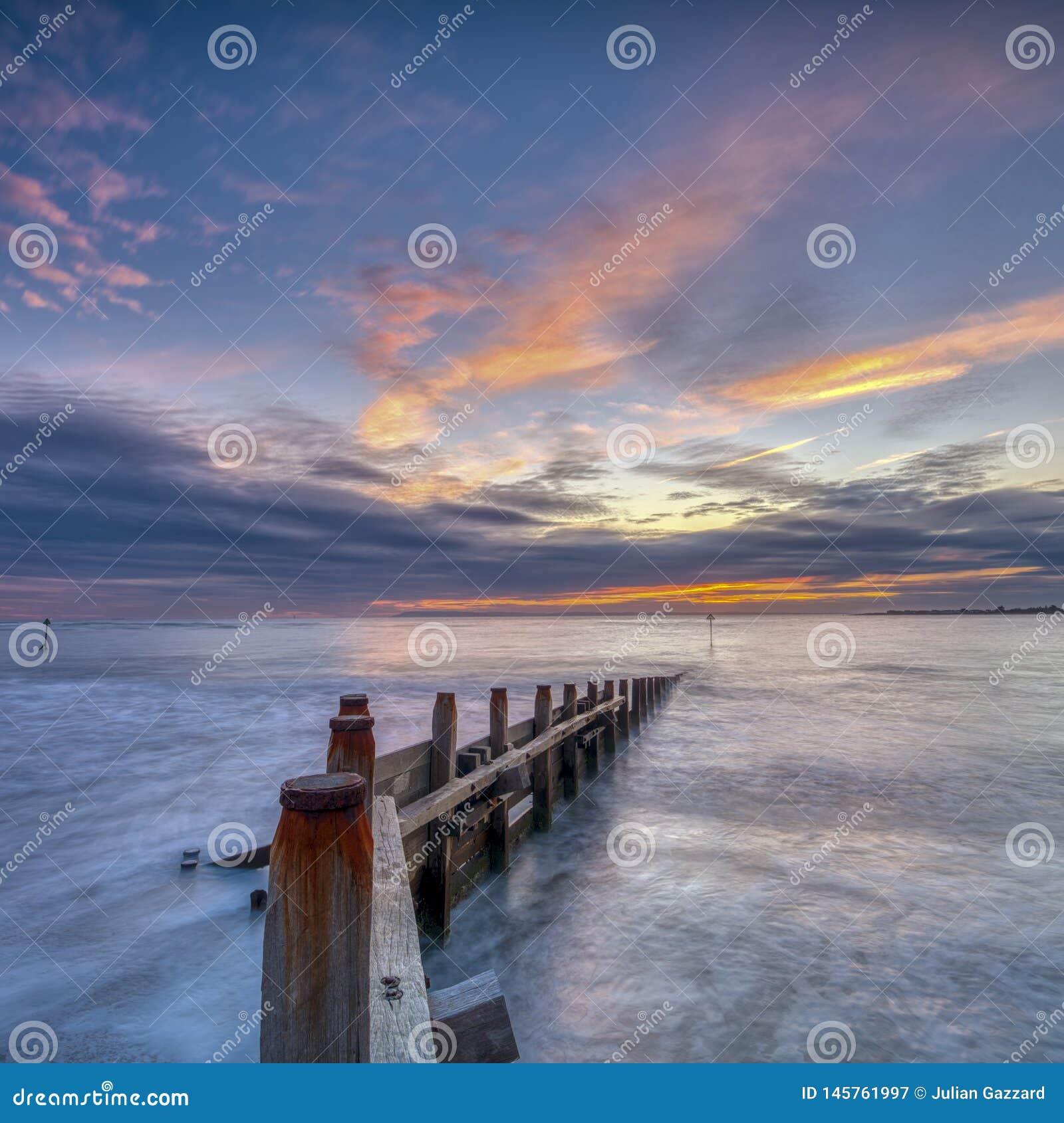 Praia ocidental de Wittering, Sussex ocidental, Reino Unido