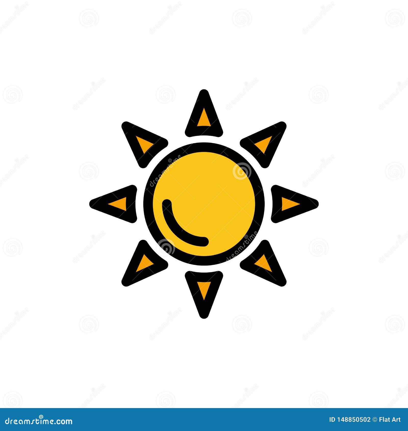 Praia, Shinning, ícone liso da cor de Sun Molde da bandeira do ícone do vetor