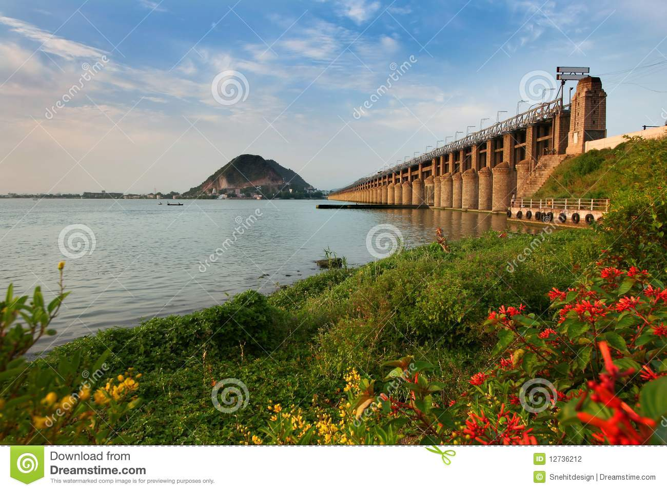 Prakasam Barrage bridge