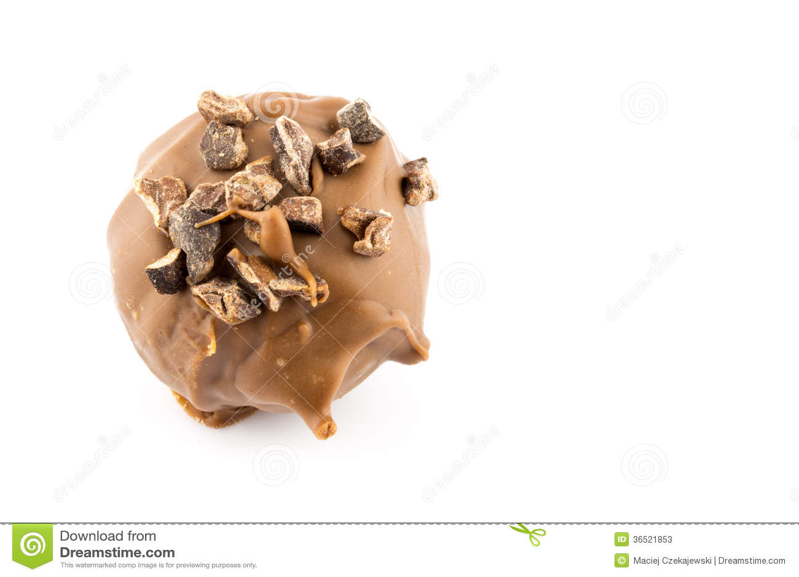 Praline de chocolat d isolement