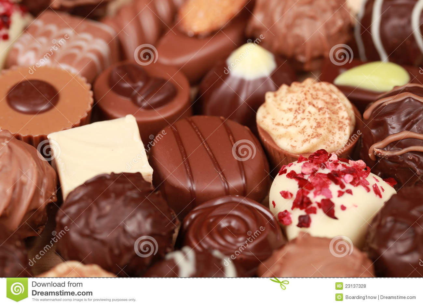 Pralines do chocolate