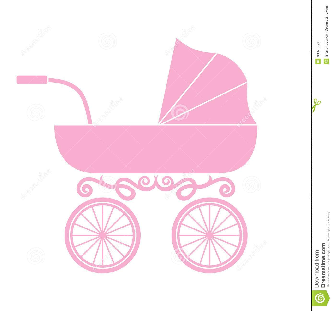 Pink Baby Carriage Vector Pink baby carriage.