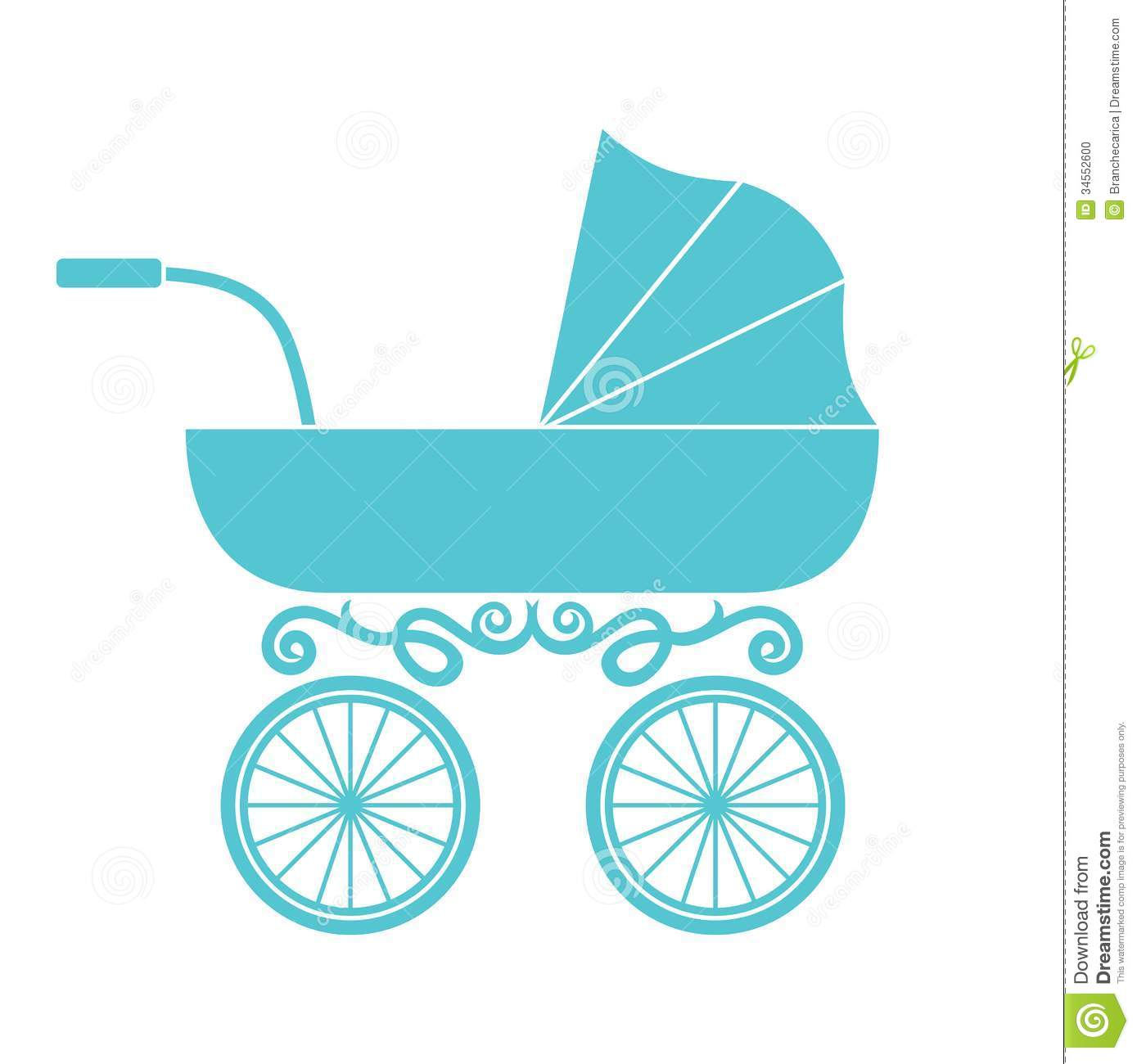 Pram Baby Carriage Stock Vector Illustration Of Icon