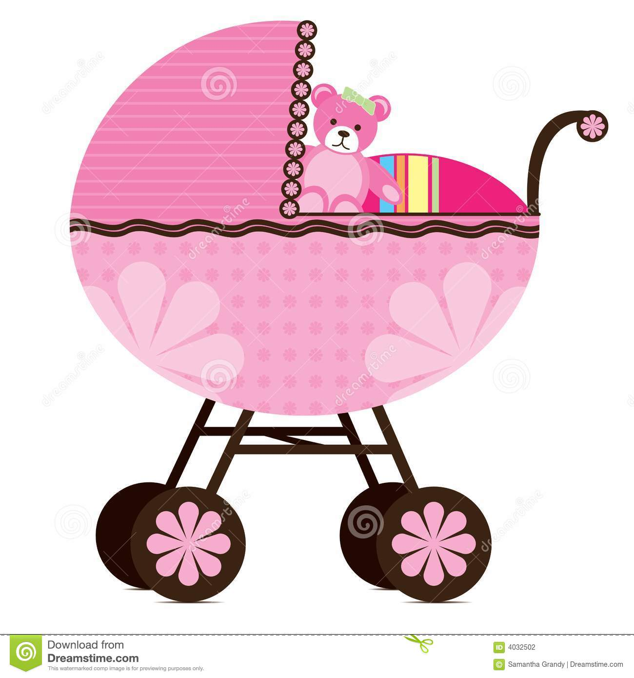 Pram For Baby Girl Stock Photography - Image: 4032502