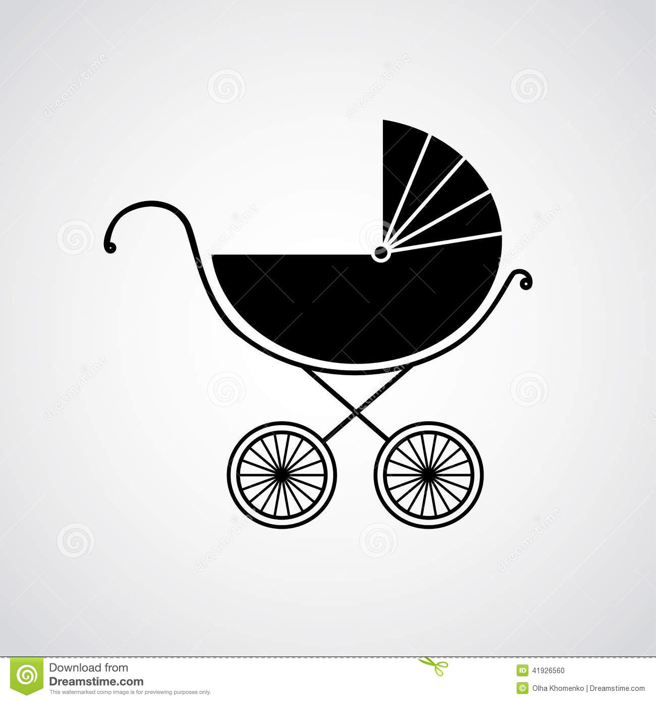 Pram for baby. Vector illustration. Background. Endless texture can be ...