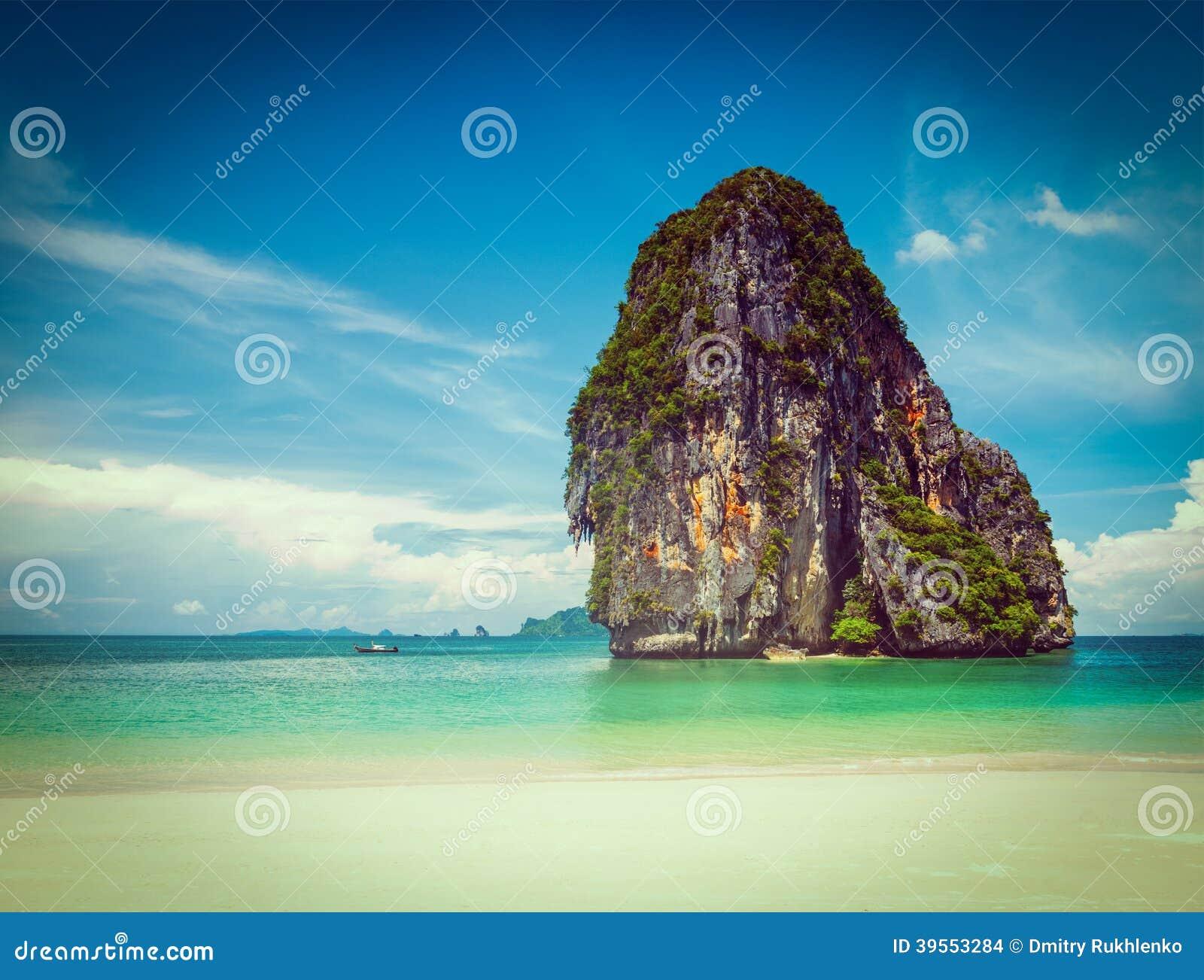 Pranang strand. Krabi Thailand