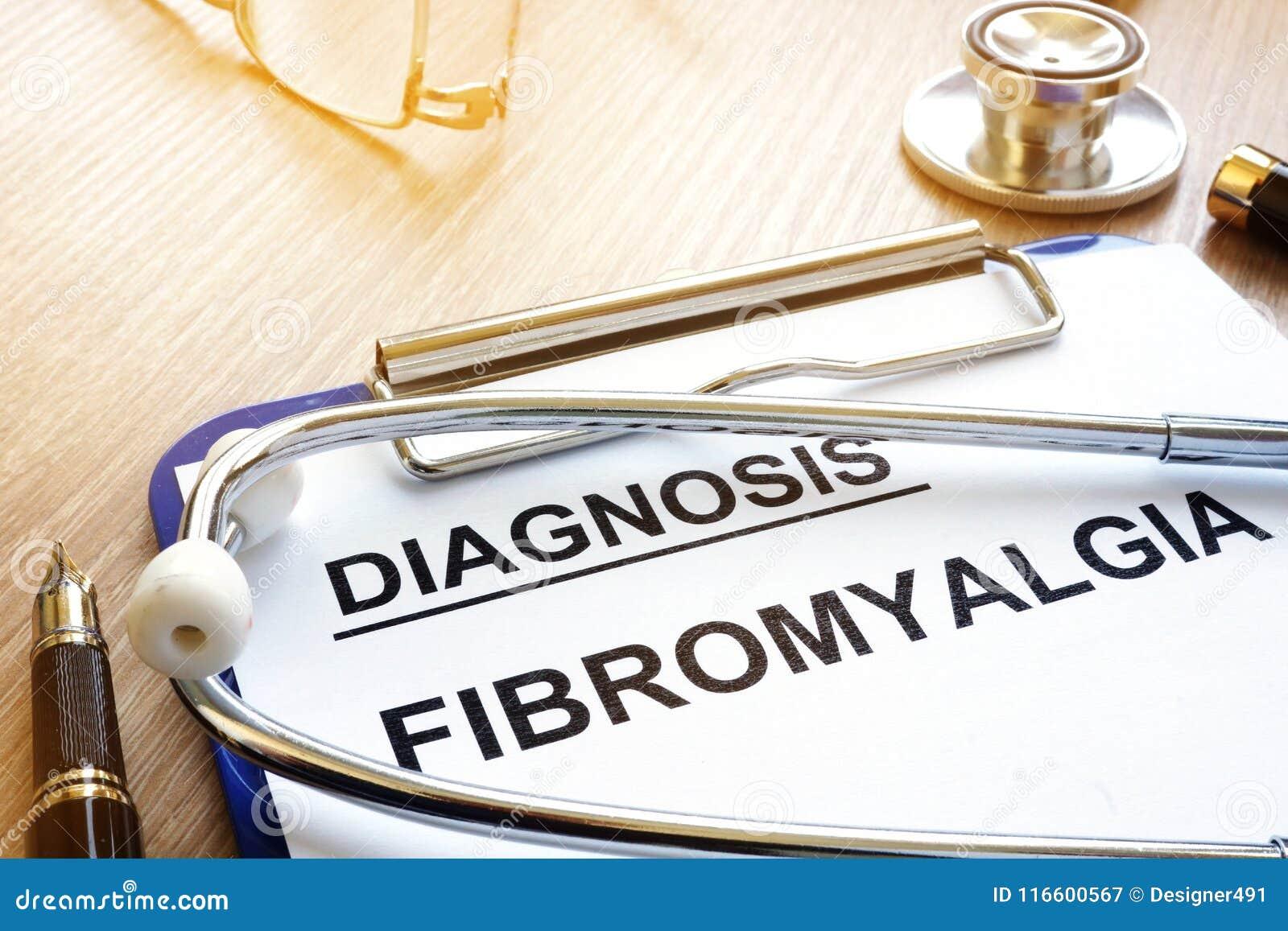 Prancheta com fibromialgia do diagnóstico