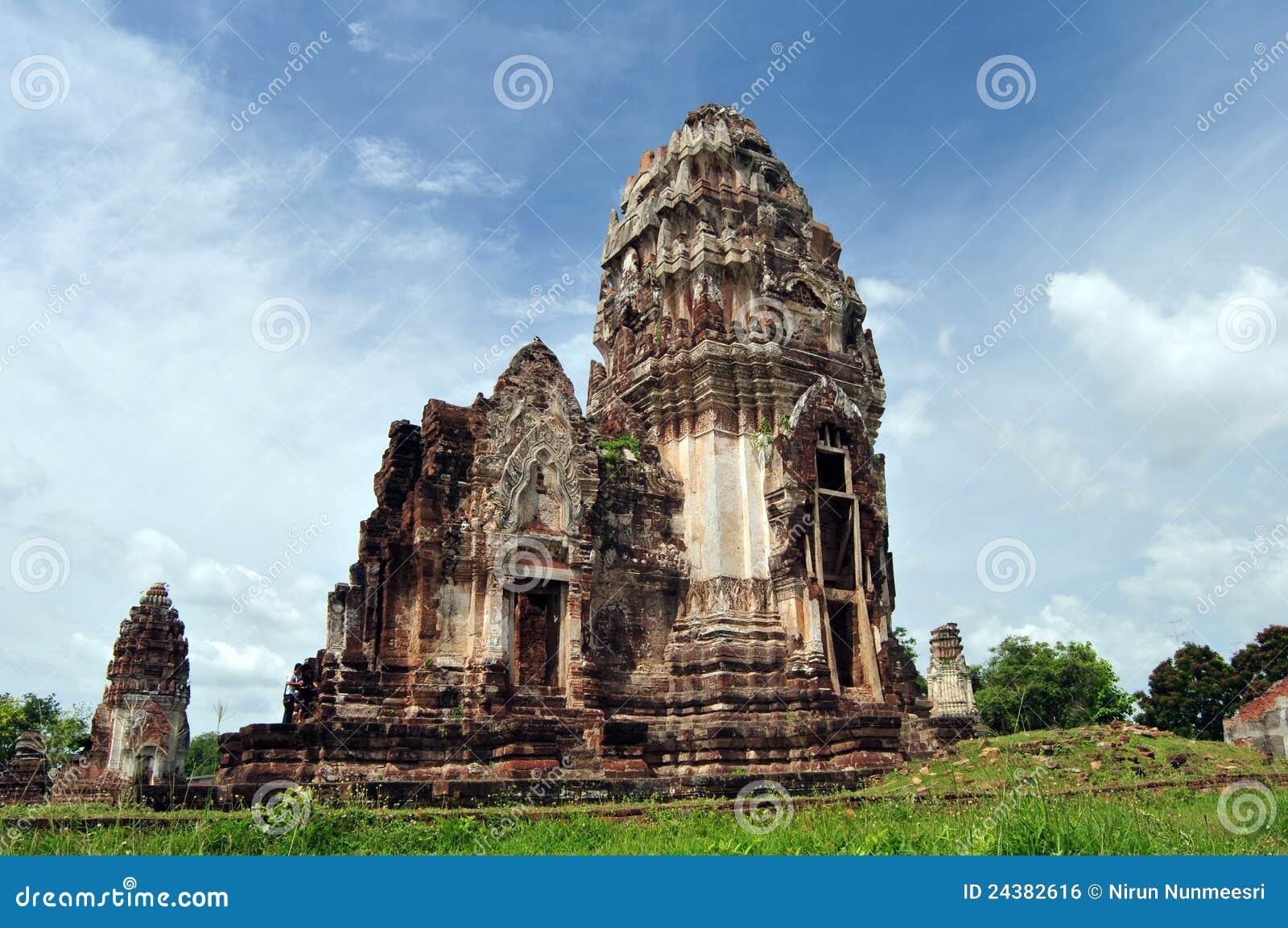 Prang In Phra Prang Sam Yot, Lop Buri, Royalty Free Stock Image - Image: 2438...