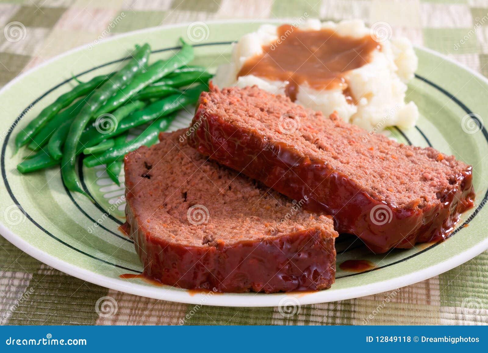 Pranzo della pagnotta di carne