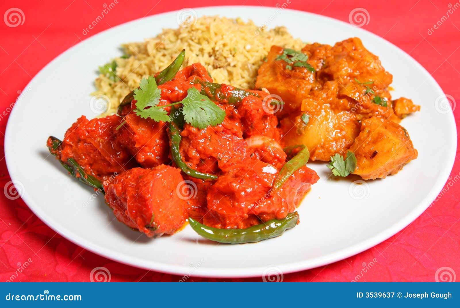 Pranzo indiano del pasto dell alimento del curry