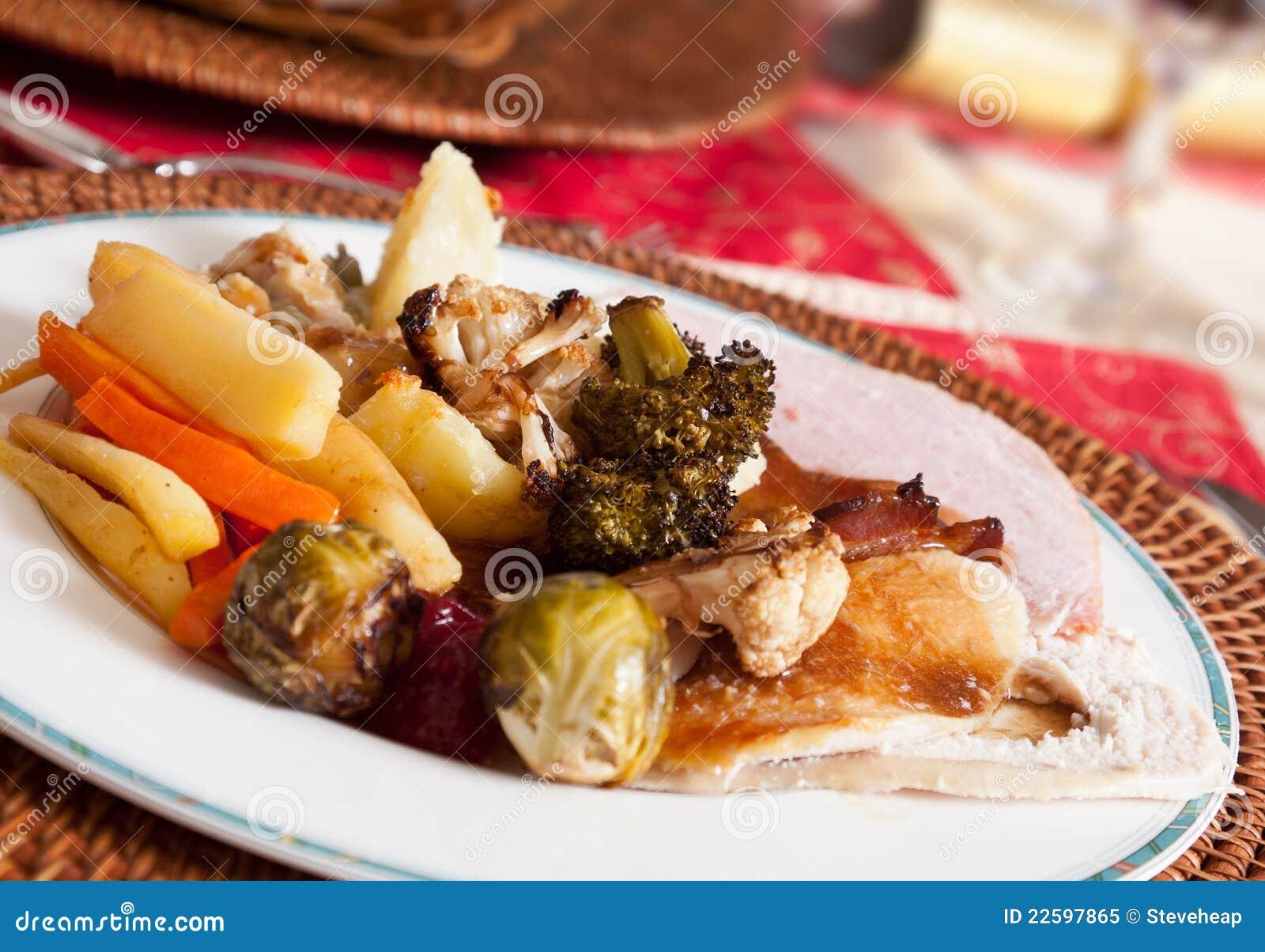 Pranzo inglese tradizionale di natale immagine stock - Camera da pranzo in inglese ...