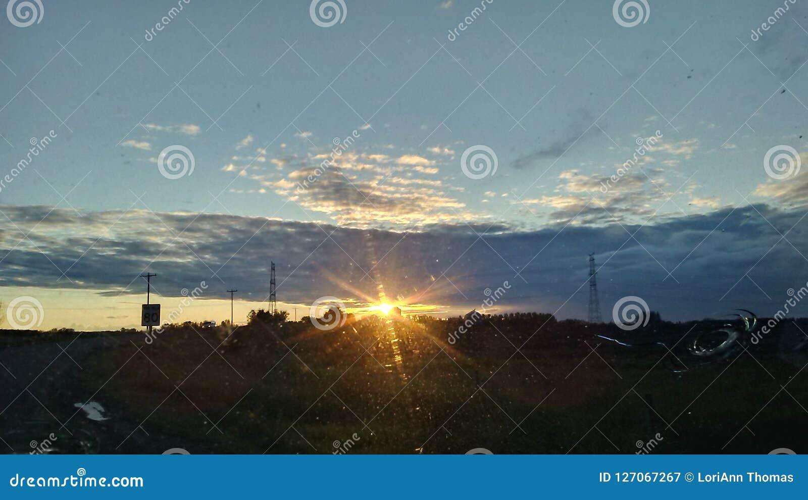 Prarie solnedgång