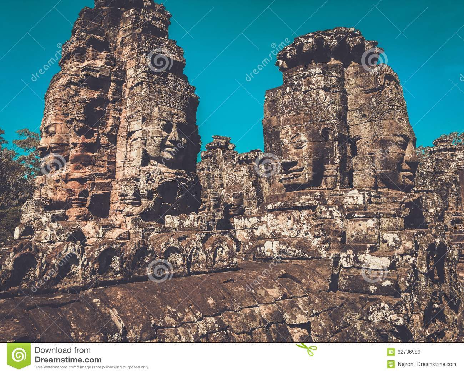 Prasat bayon temple siem reap cambodia stock photo image