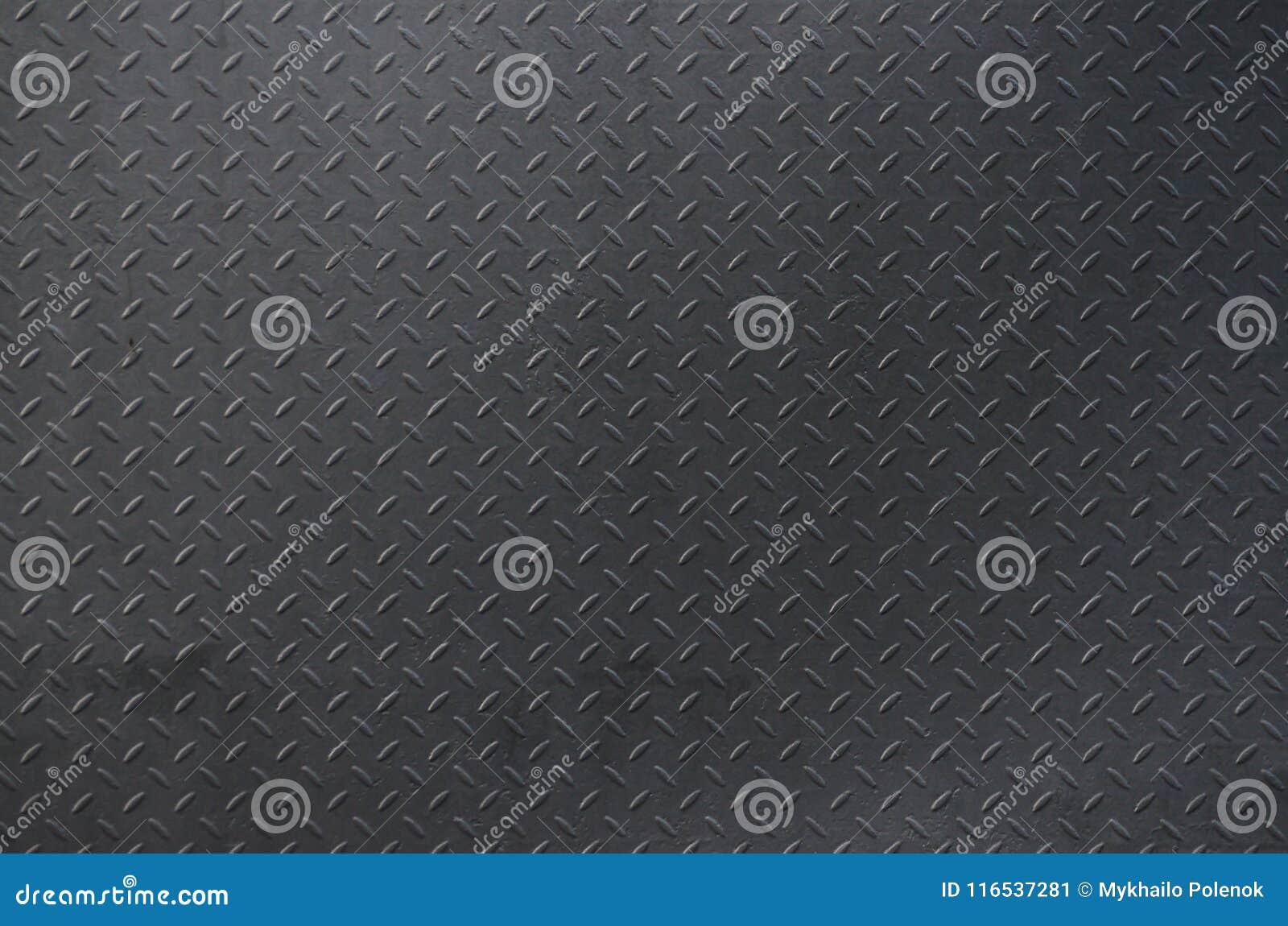 Prata escovada alumínio do fundo da textura do metal Placa de assoalho do metal com teste padrão do diamante Imag do fundo do Gru