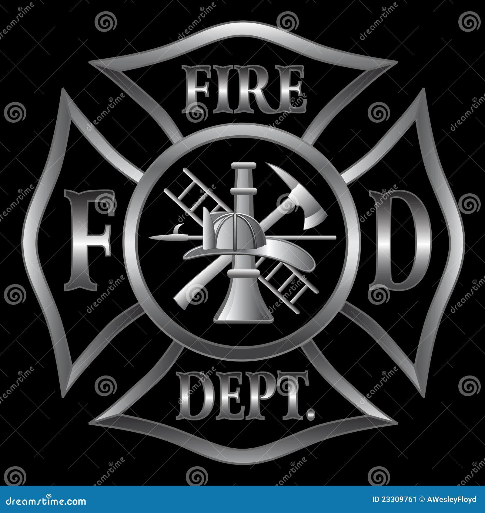 Prata transversal do departamento dos bombeiros