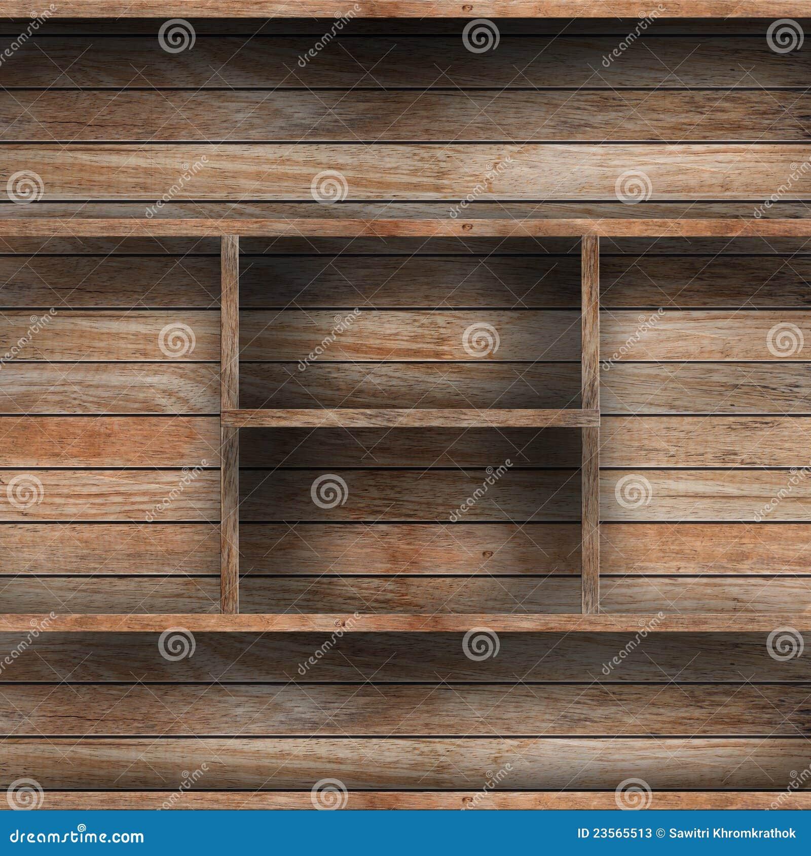 Prateleira de madeira vazia