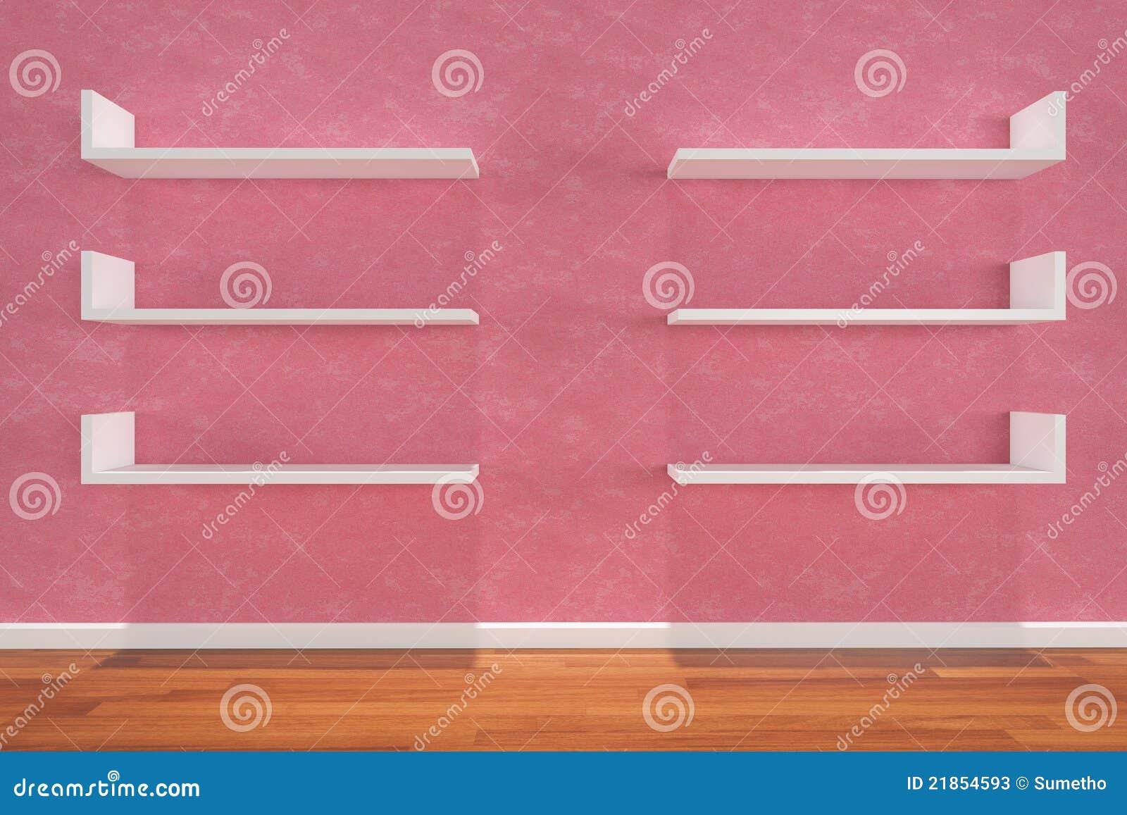 Prateleiras Na Parede Cor de rosa Fotos de Stock Imagem: 21854593 #83AA21 1300x957