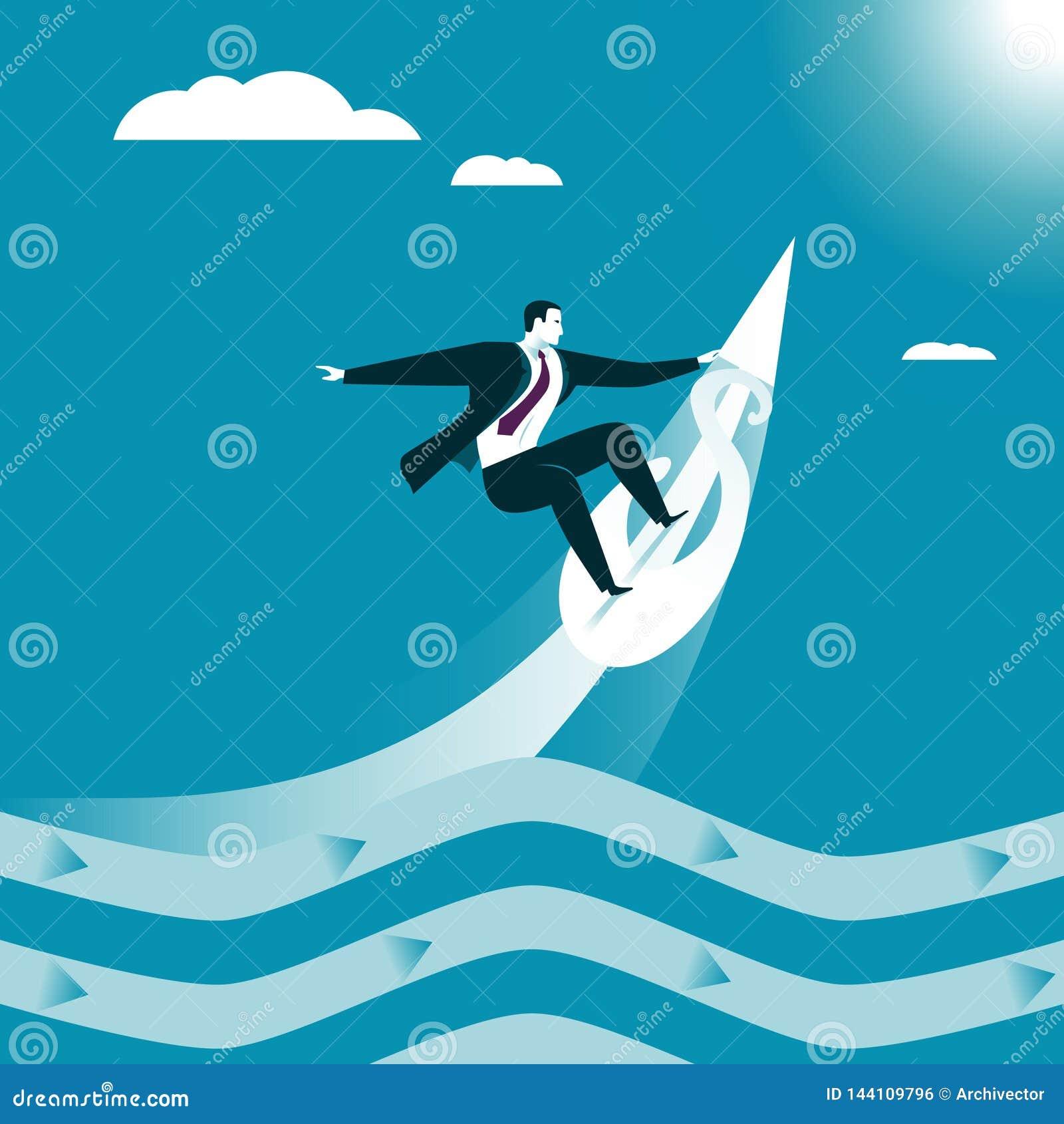 Praticare il surfing di affari Onda del fermo
