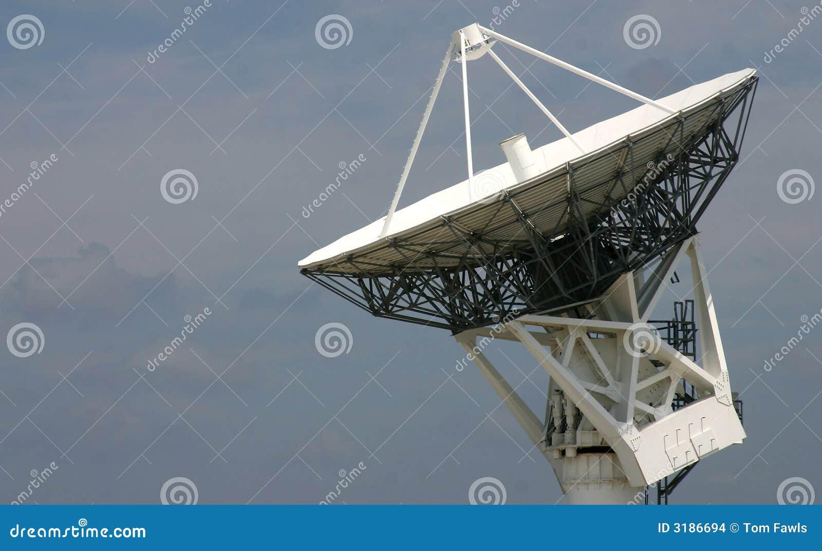 Prato de seguimento satélite