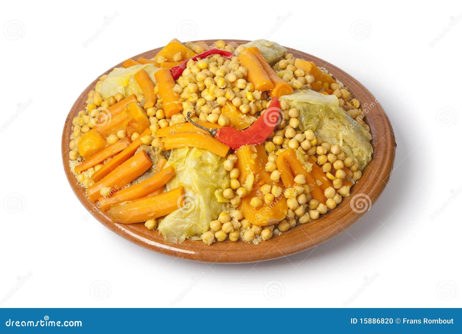Prato marroquino tradicional com cuscuz