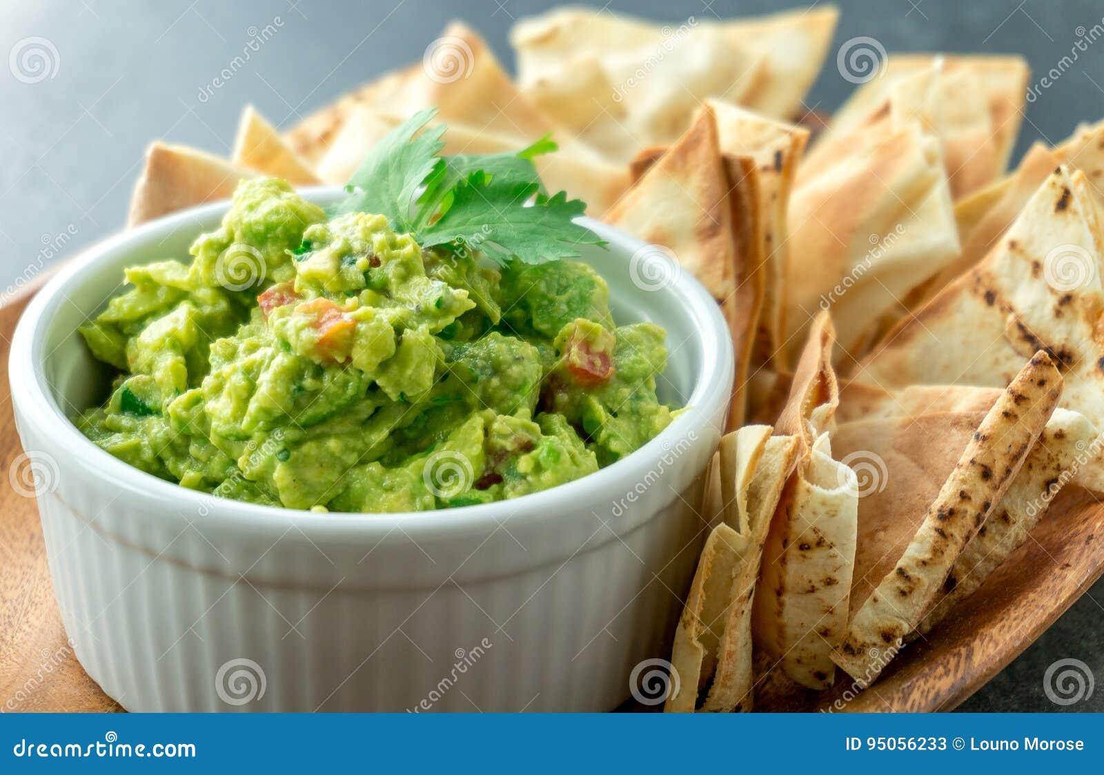 Prato mexicano do guacamole