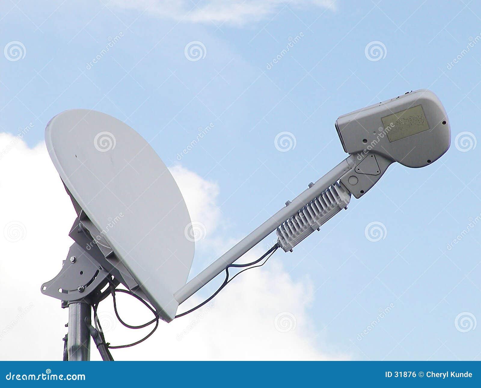 Prato satélite do computador