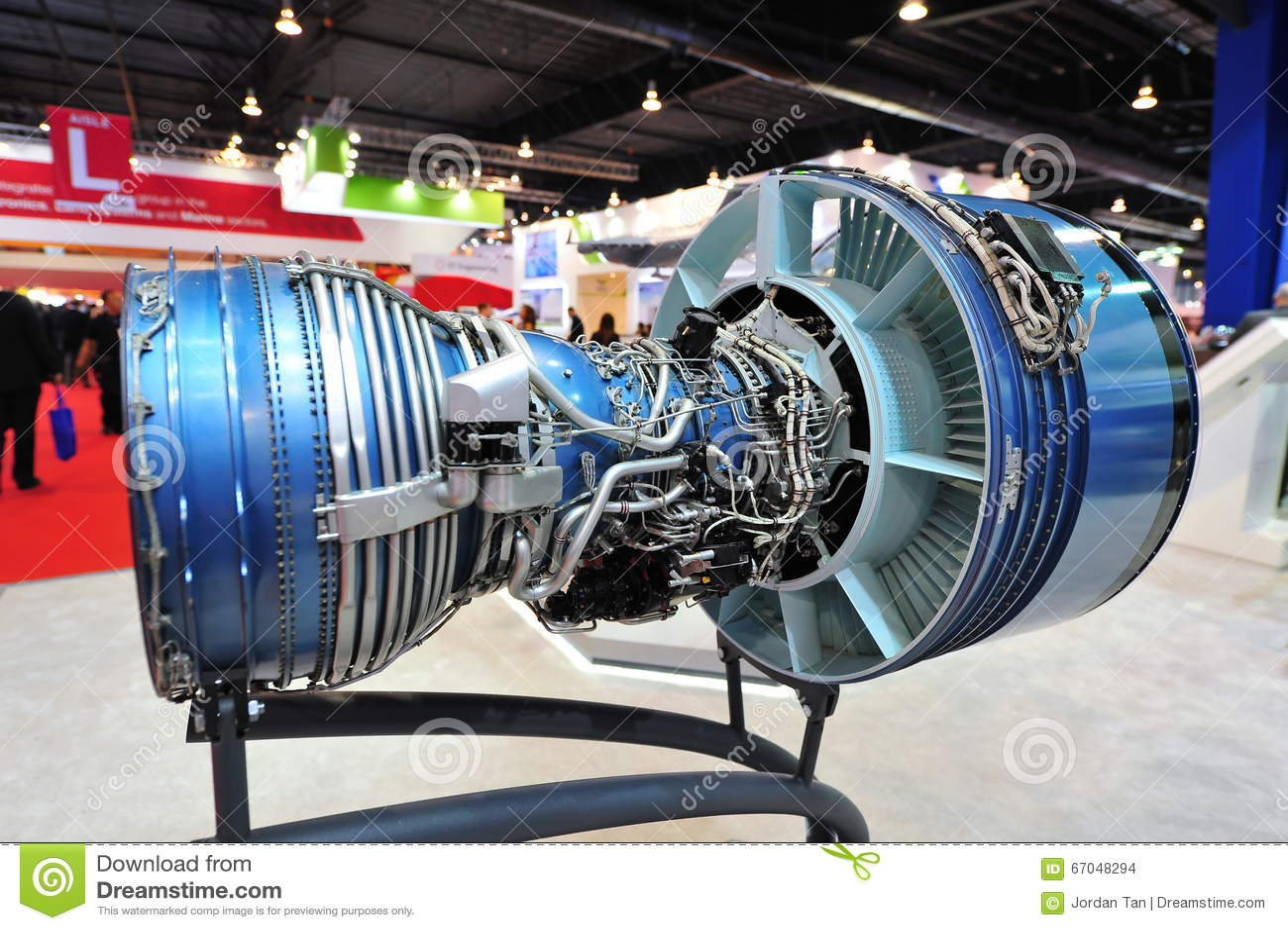 Pratt & Whitney Displaying Their PW4000 High By-pass Turbo