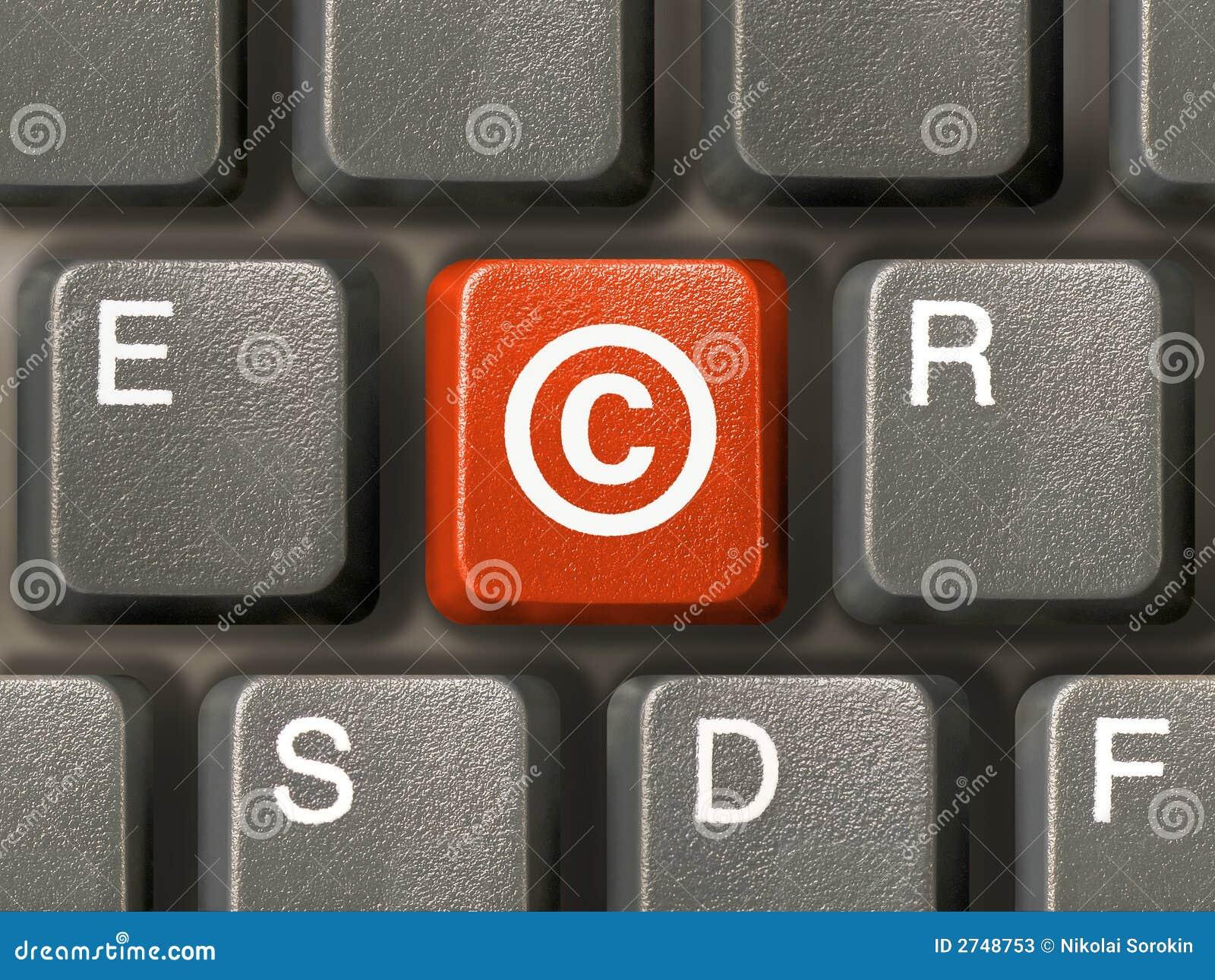 Prawa autorskie kluczowe klawiatura