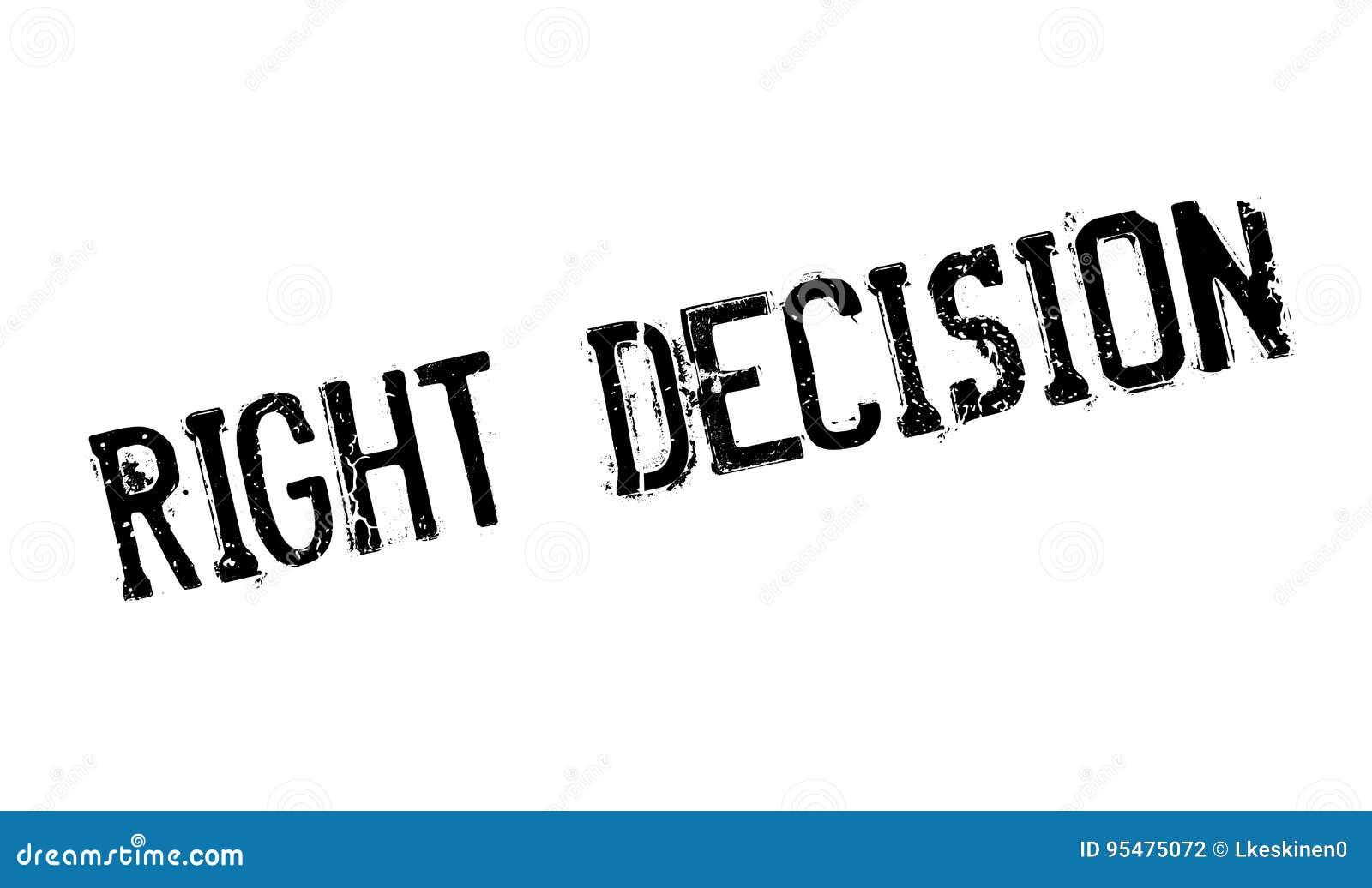 Prawa decyzi pieczątka
