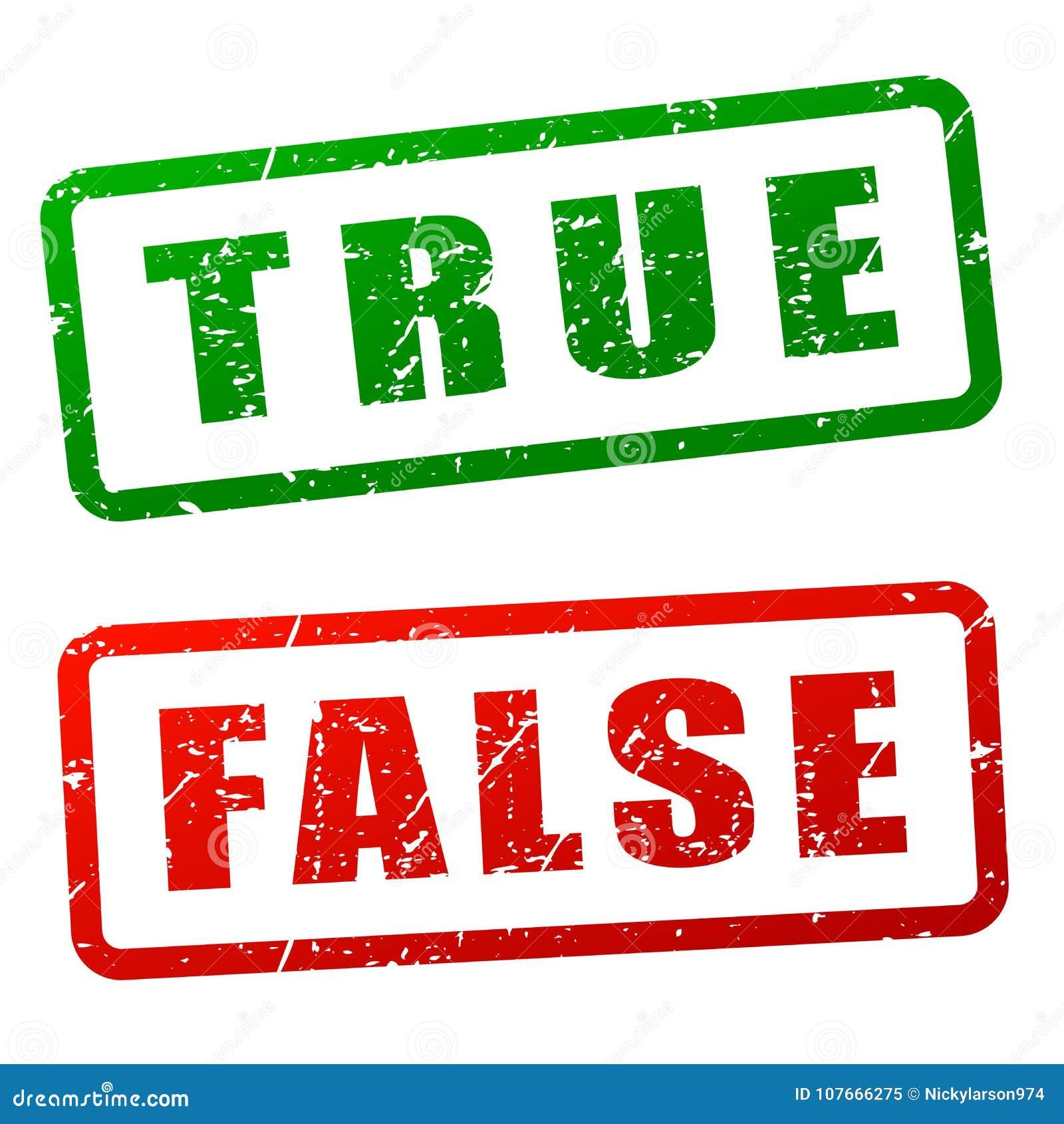 Prawdziwy i fałszywy stemplowy projekt
