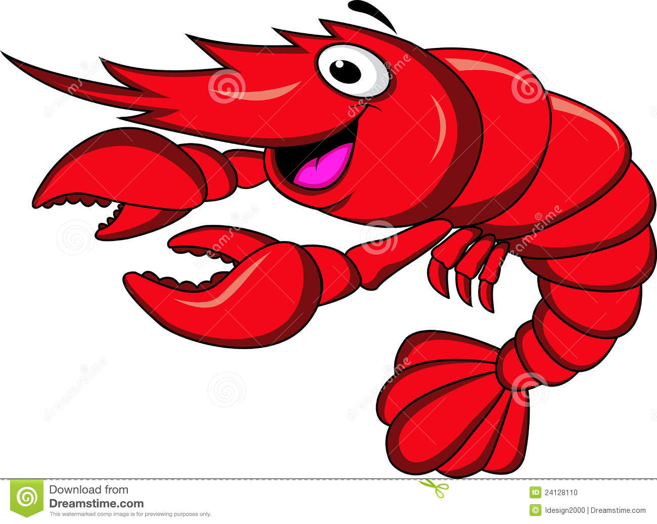 Stock Photo Prawn Cartoon Image 24128110