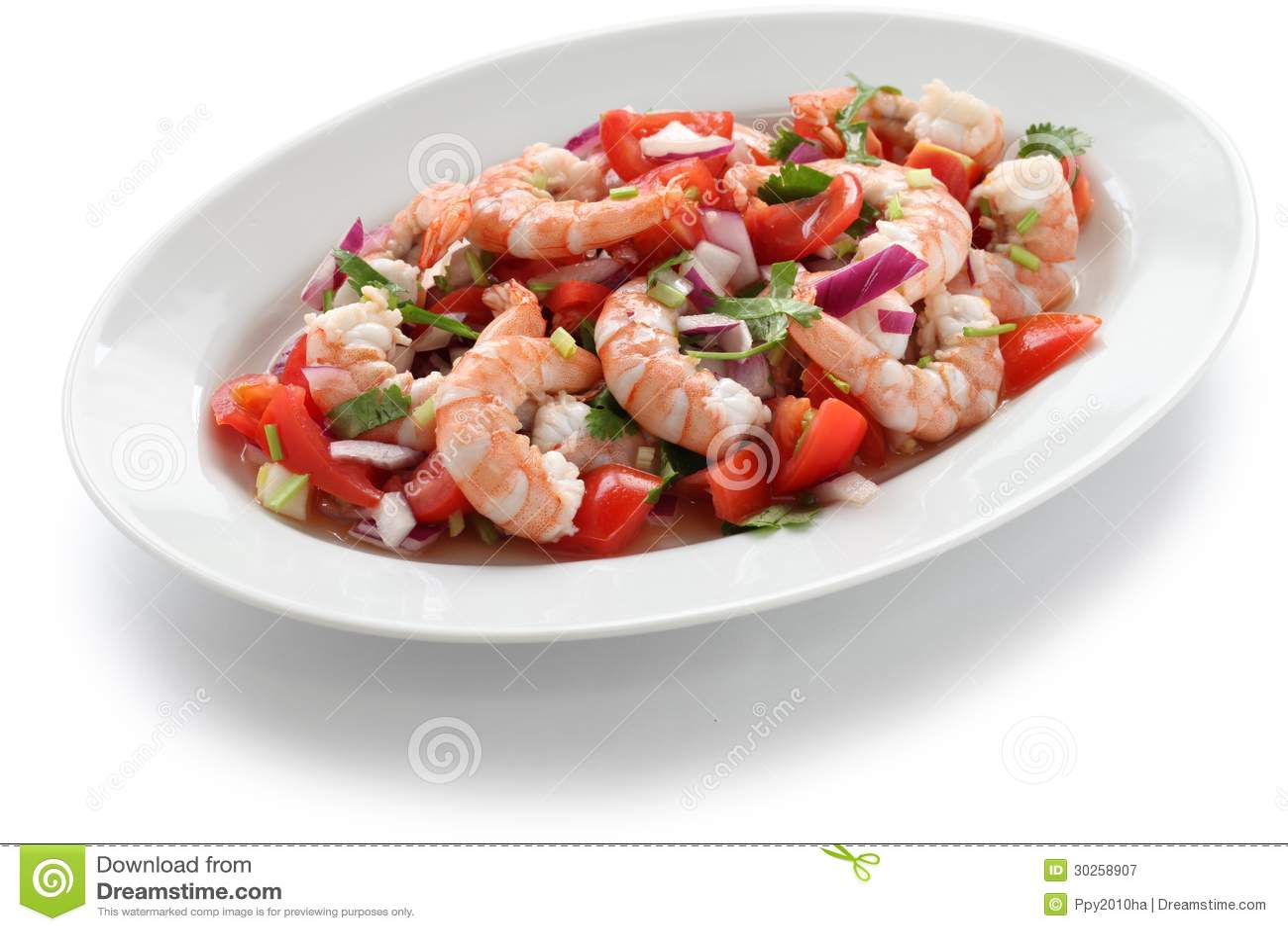 ceviche marinated seafood salad