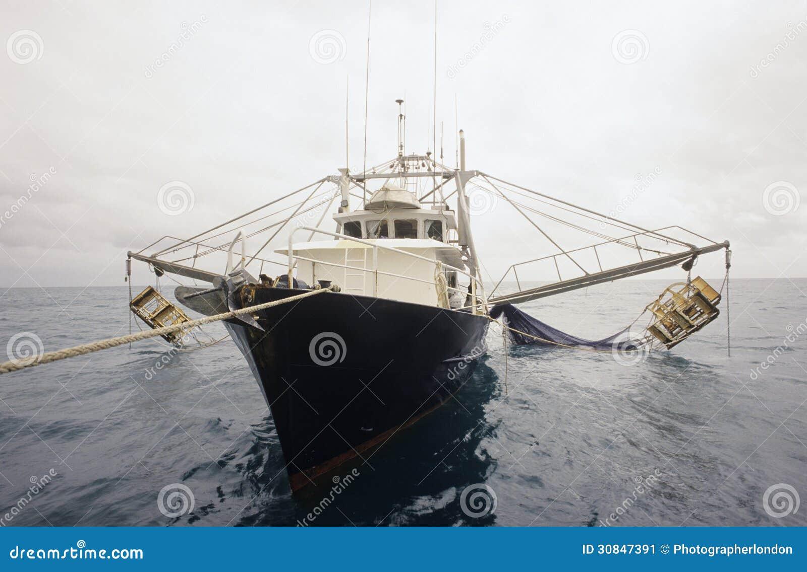 Prawn Fishing Trawler Gulf Of Carpentaria Australia Stock Image - Image: 30847391